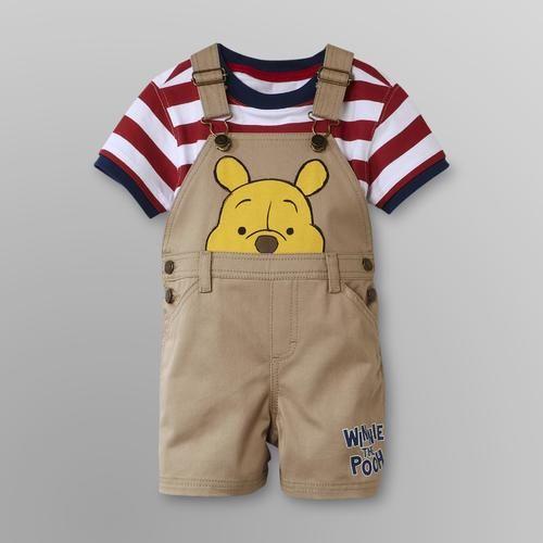 32e73d99d Disney Winnie The Pooh Infant Boy's Overalls Shorts Set - Kmart ...