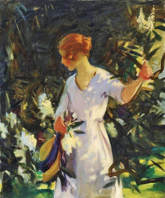 Woman Beside a Chestnut Tree - Archibald George Barnes ...