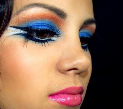 blue bird makeup in 2019  bird makeup halloween makeup