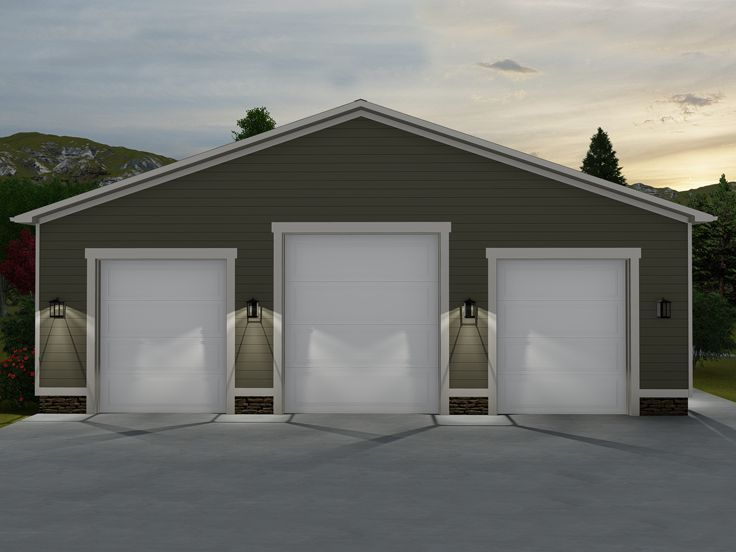 065G-0001: Boat Storage Garage with RV Bay; 50'x60' #garageplans