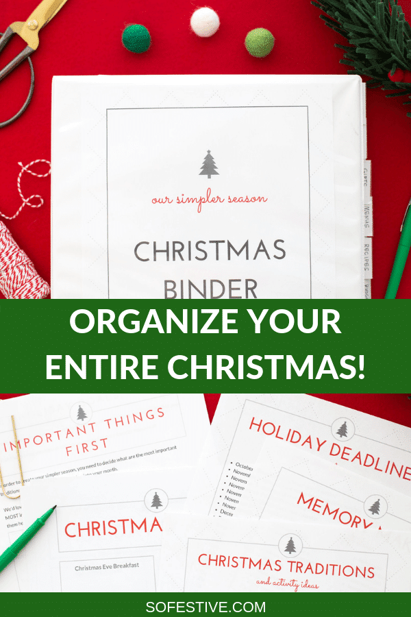 2020 Easy Printable Christmas Organizer How to Organize Your Entire Christmas Season With a Holiday Binder