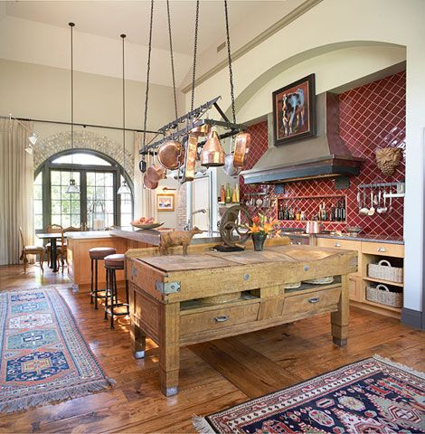 antique butcher block as a kitchen island from tradhome com  love this  antique butcher block as a kitchen island from tradhome com  love      rh   pinterest com