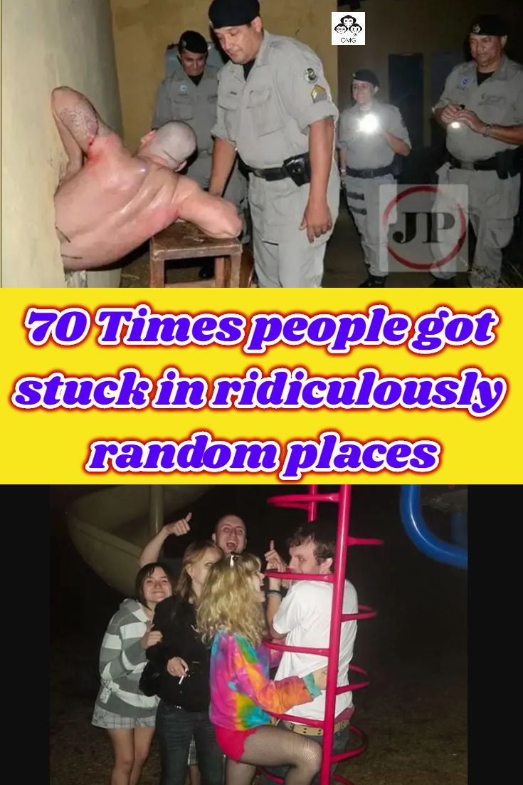 70 Times people got stuck in ridiculously random places in