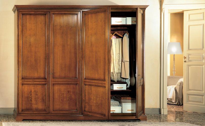 I Ciliegi Ibisco | 4 doors wardrobe | Structure in solid