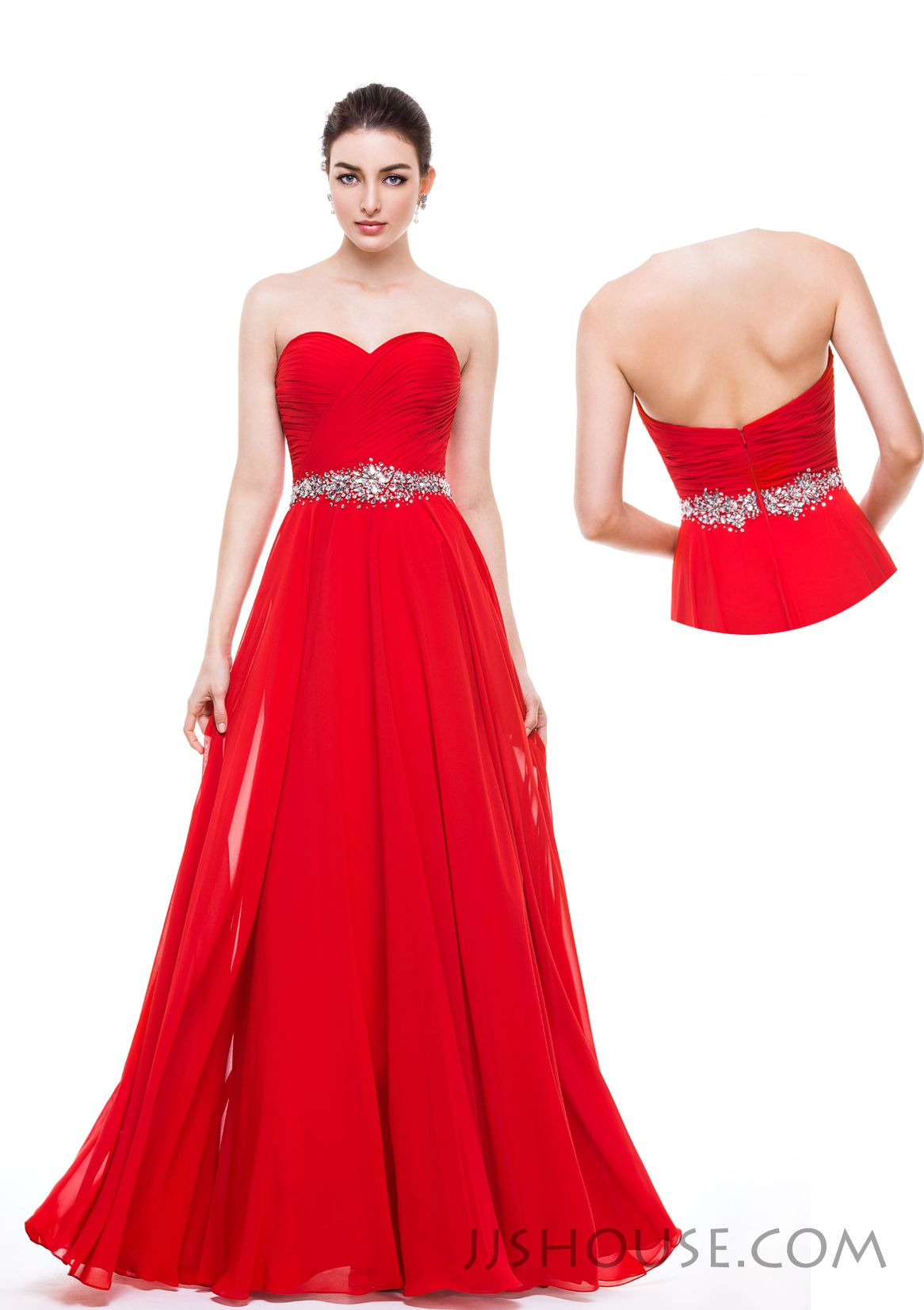Simple yet classic, this Prom dress will easily meet all the requirements on your checklist. #JJsHouse #Party #Prom