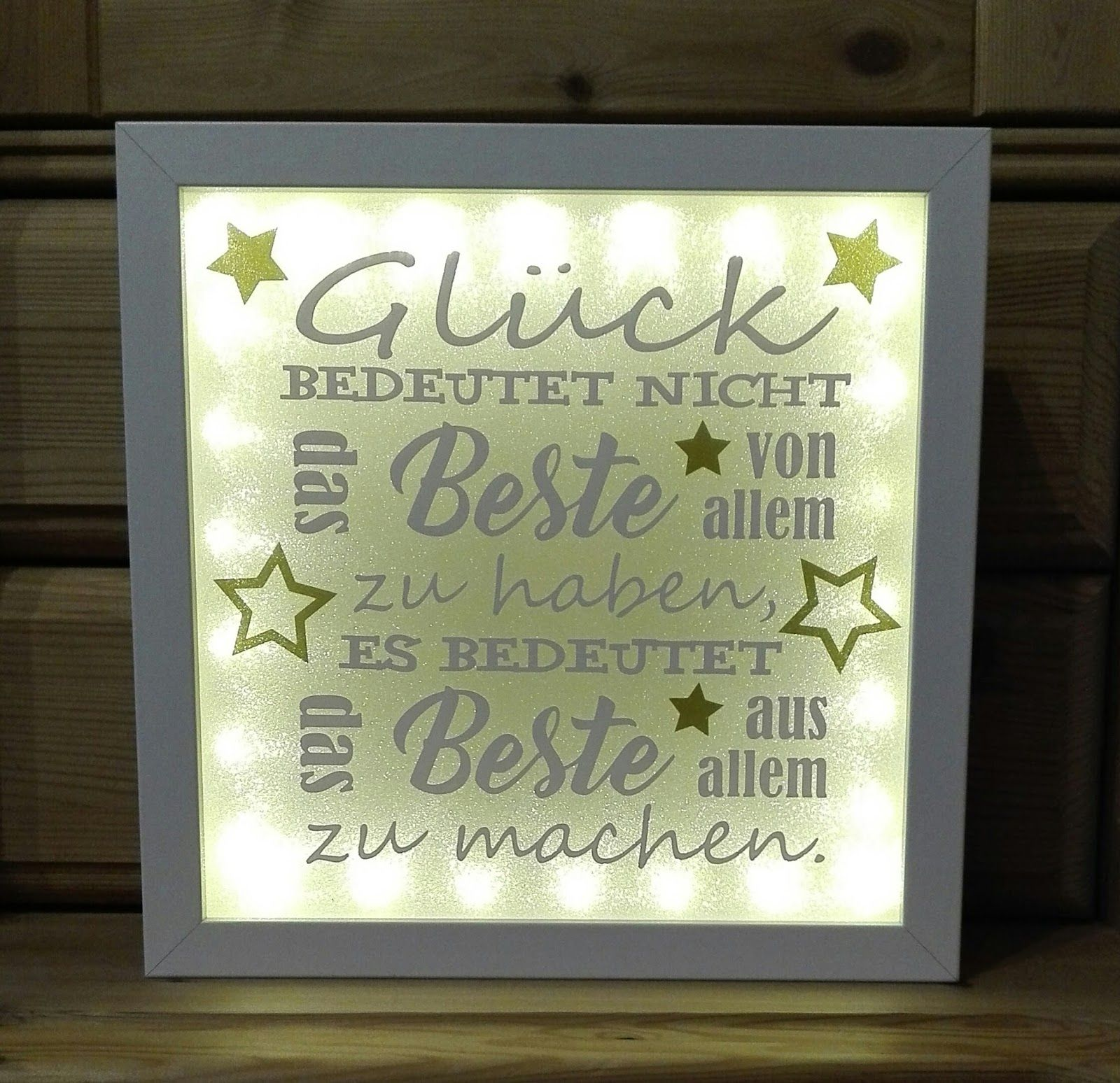 ribba led gl ck spr che bilderrahmen lichter silhouette plotter frame und lettering. Black Bedroom Furniture Sets. Home Design Ideas