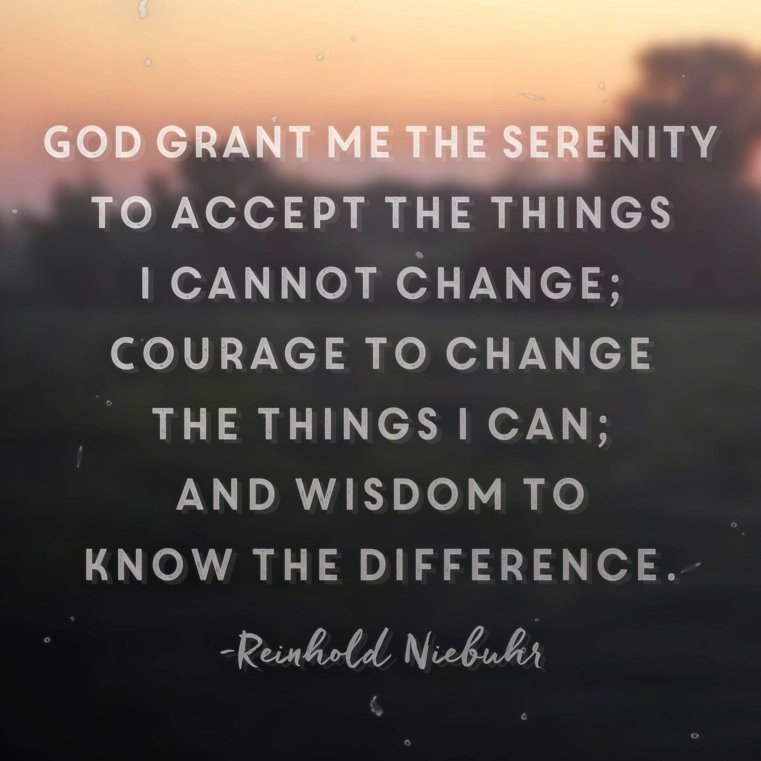 Reinhold Niebuhr Serenity Prayer
