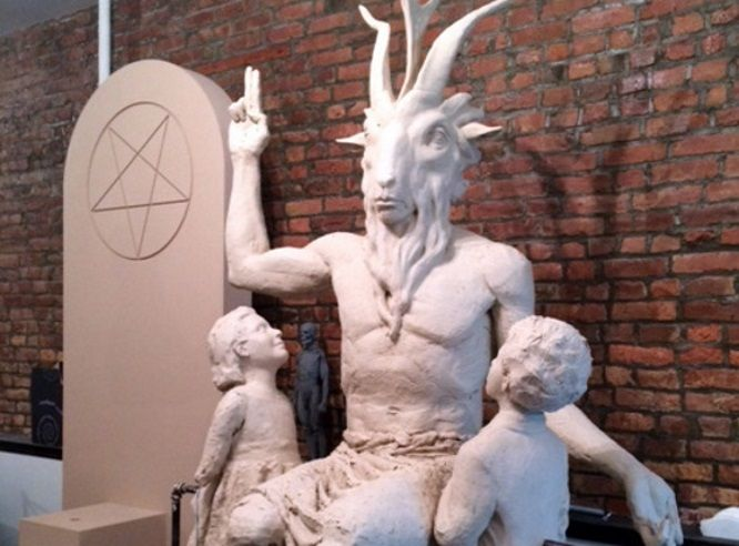 Satanic Temple Unveils Baphomet Statue For Oklahoma Statehouse lawn.