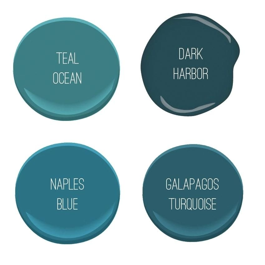 Benjamin Moore Galapagos Turquoise Teal Paint Colors Paint