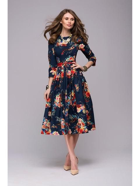 cdf993f1741 Floral Casual Long Sleeve Printed Summer Dress in 2019