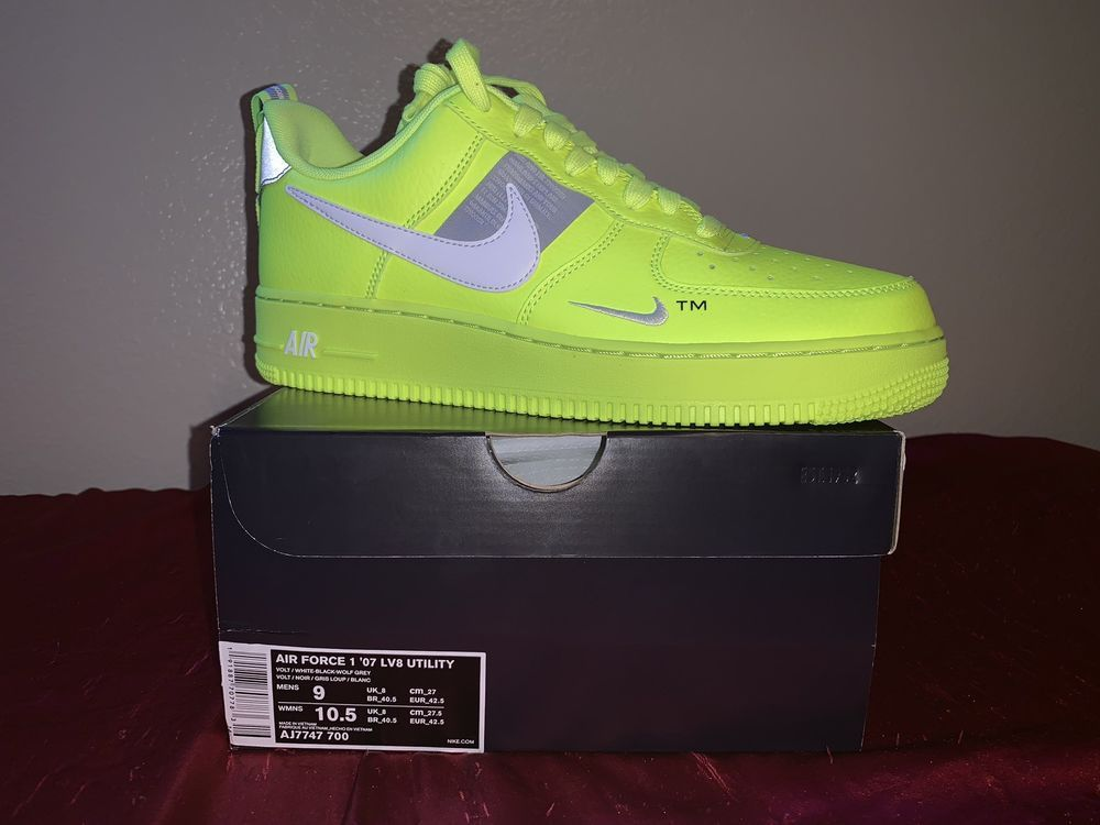 sneakers for cheap 8b40e 6583a nike air force 1  07 lv8 utility Volt  fashion  clothing  shoes   accessories  mensshoes  athleticshoes (ebay link)