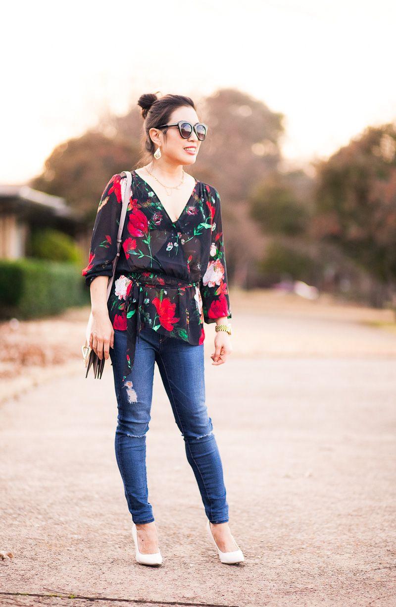 cute & little | petite fashion blog | express Chiffon Mesh Sheer ...