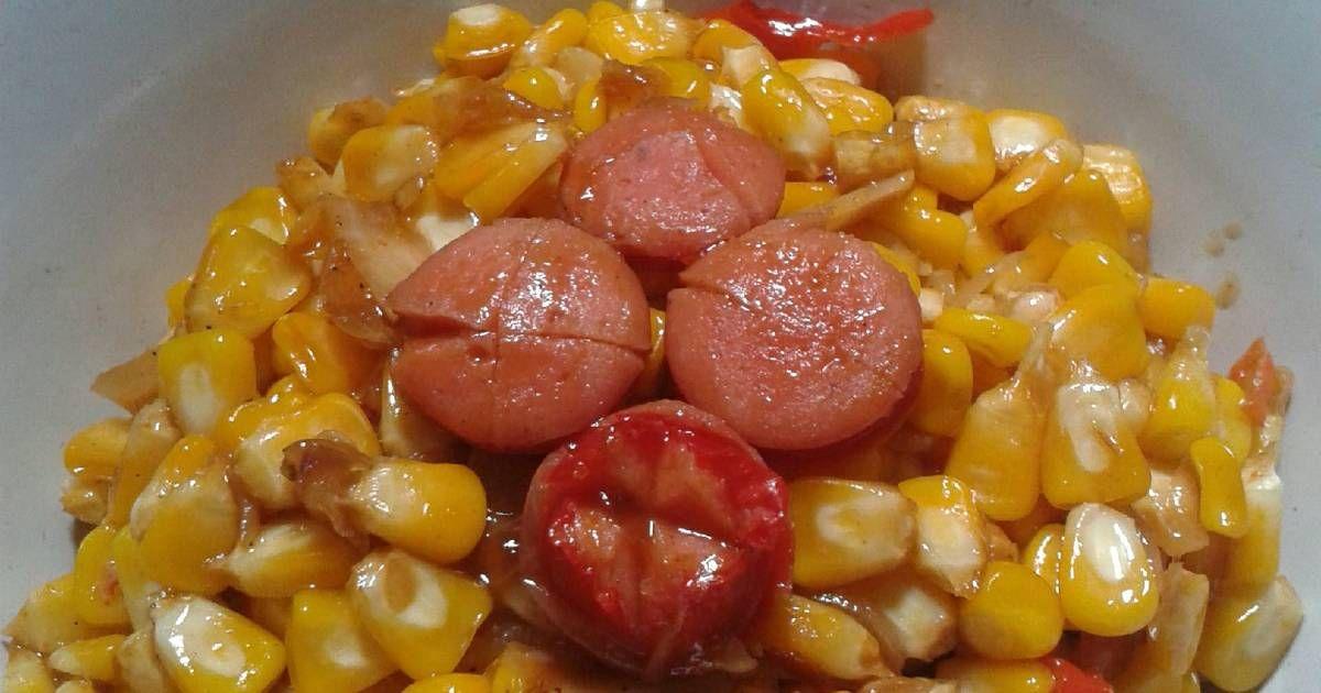 Resep Tumis Jagung Sosis Asam Manis Praktis Oleh Dish By Ifah Resep Makanan Dan Minuman Sosis Tumis