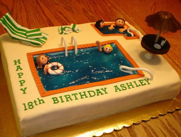 Swimming Pool Cake Ideas cake swim team swimmer cake decorating community cakes we bake Pretty Cool Swimming Pool Cakesswimming