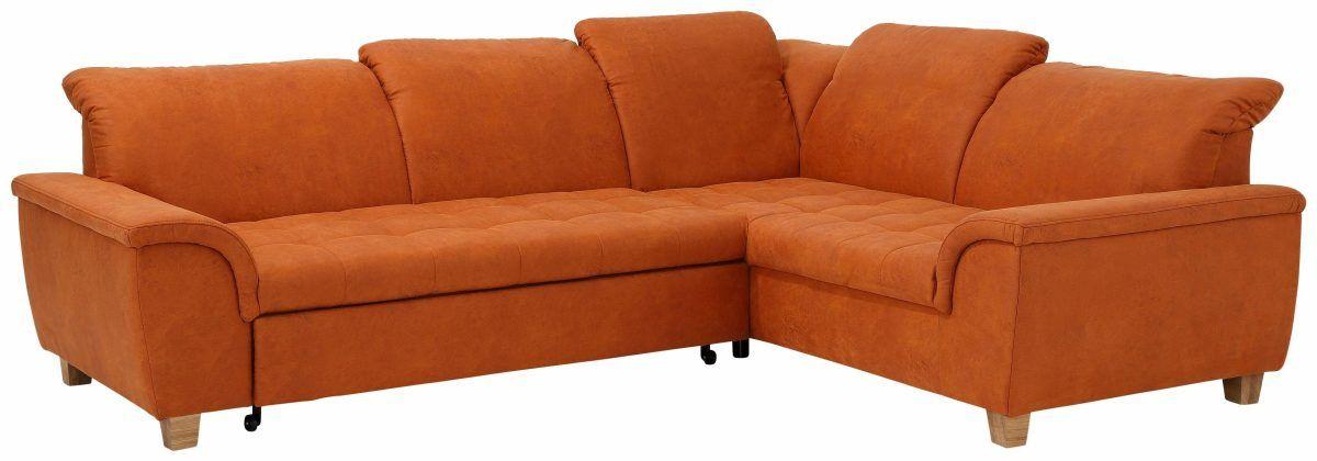 Home affaire Ecksofa », wahlweise mit Rückenfunktion und - wohnzimmer orange rot