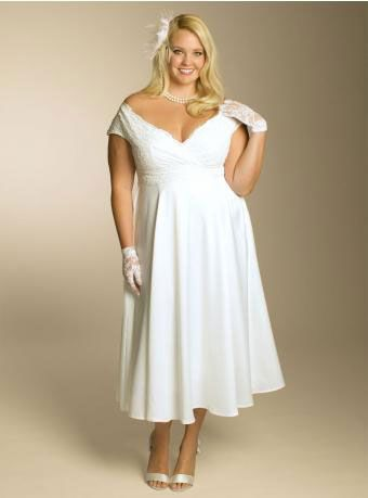 cutethickgirls.com informal plus size wedding dresses (08 ...