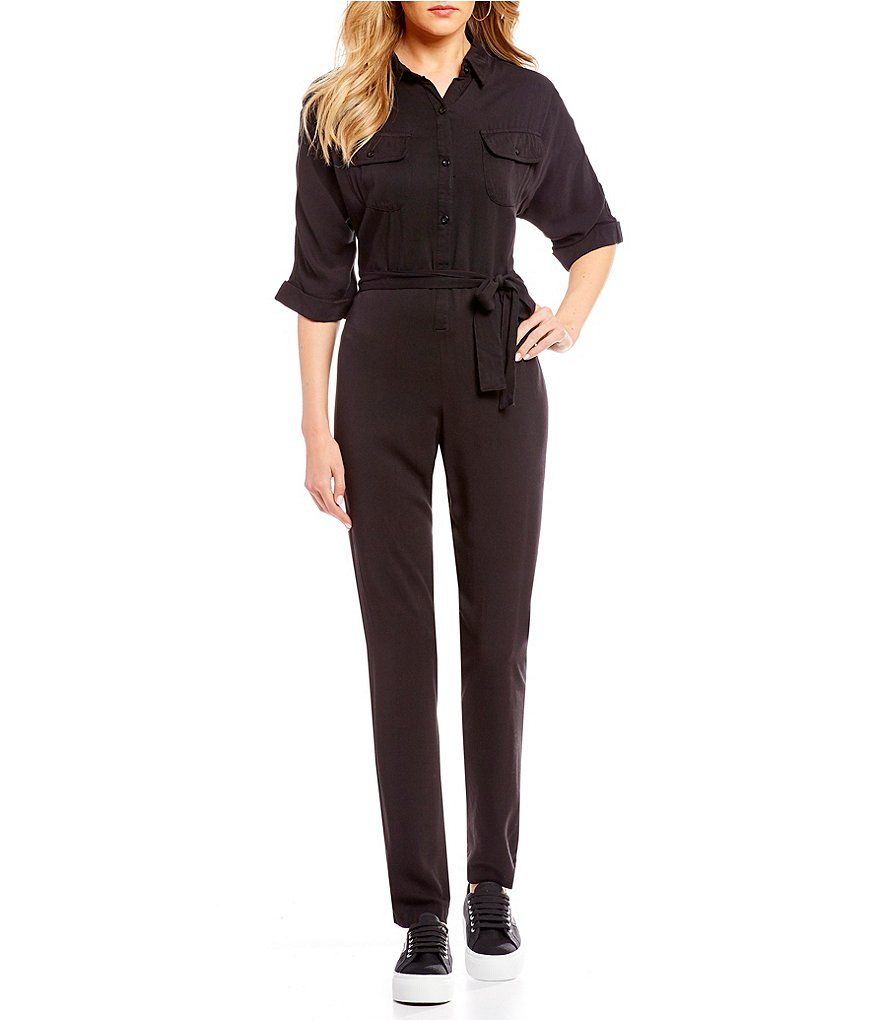 614161f10949 C V Chelsea   Violet Tie Front Jumpsuit