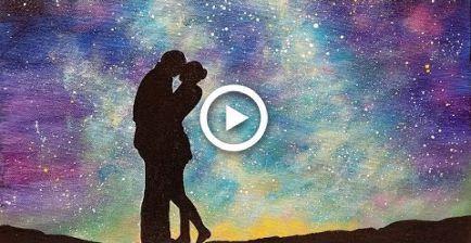#Acrylic #BEGINNER #Easy #Galaxy #Night #Painting, #Acrylic #Beginner #easy #Galaxy #Night #painting