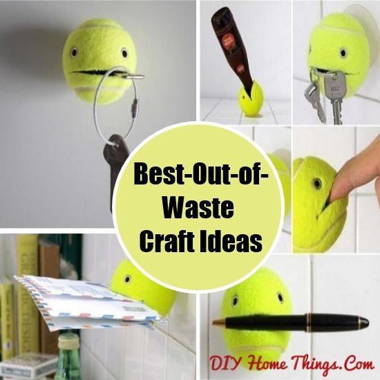 Tennis ball best out of waste ideas best out of waste for Crafts by using waste material