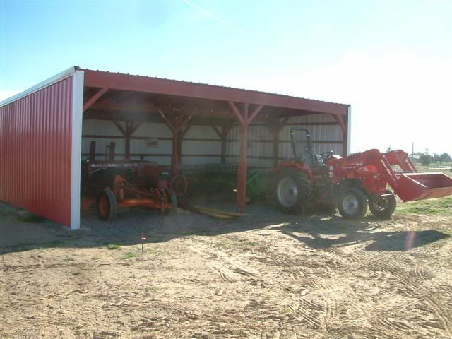 Metal Tractor Barns : Actually the plans call for two additions both ft
