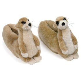 167fb45efc15f Meerkat Slippers | Weird and wonderful | Slippers, Gifts for pet ...