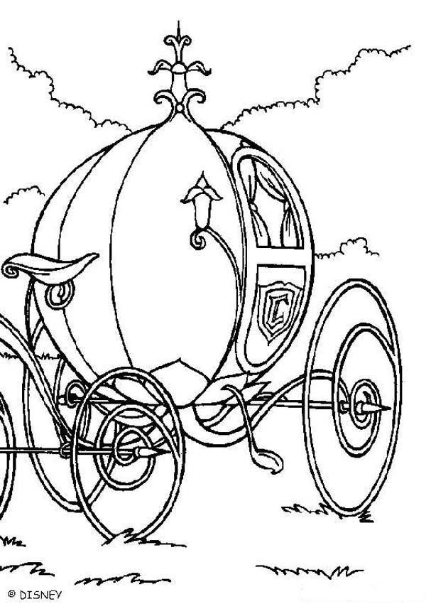 Cinderella coloring book pages - Coach | Contes | Pinterest ...