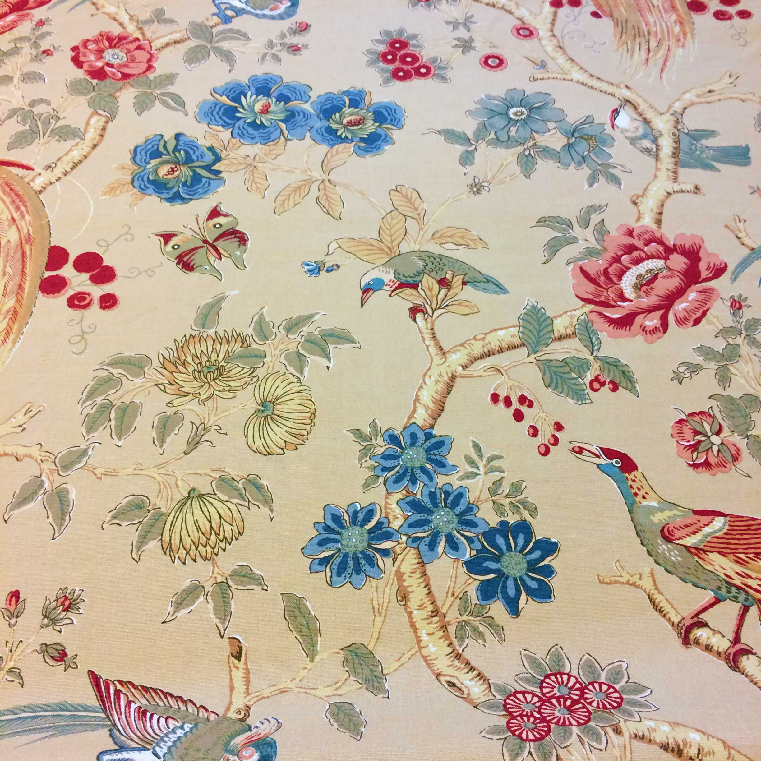 Paradise Birds By Gp J Baker Ltd Free Fabric