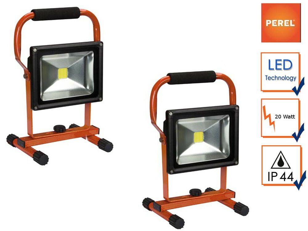 Details Sur 2x Portable Del Batterie Lampe 20 W Neutralweiss De Travail Feux Ip44 Afficher Le Titre D Origine Lamp Led Chantier