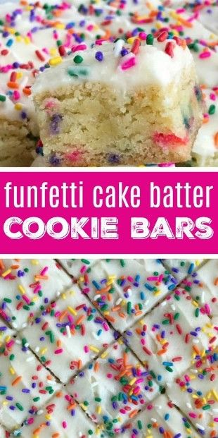 Funfetti Cake Batter Cookie Bars  #loadedcauliflowerbake