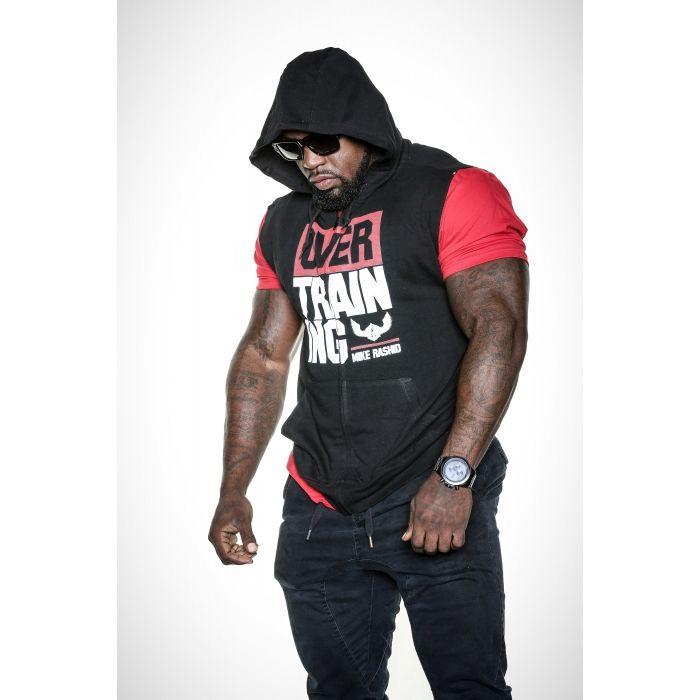 Mike Rashid - Overtraining Sleeveless Zip Hoodie - Black   Health ...