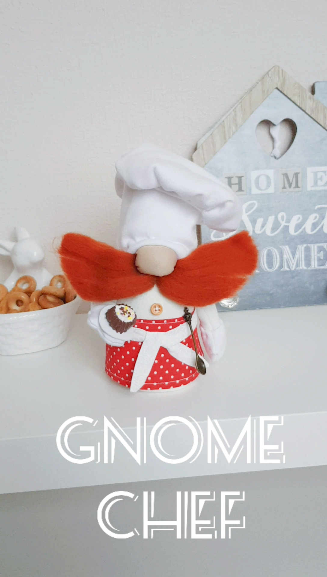 Gnome cook / Chef gnomes / Gift pastry / Wedding a