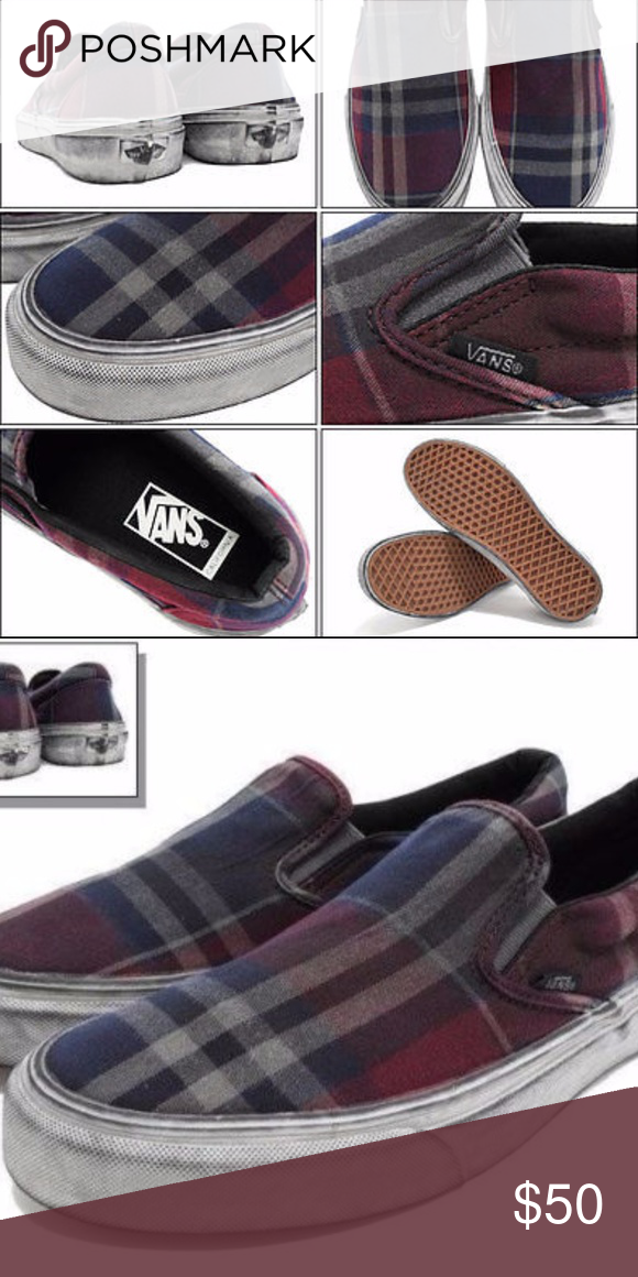 768e5c59bde15b VANS Classic Slip On CA Overwashed Plaid Size 11 Have one to sell  Sell now