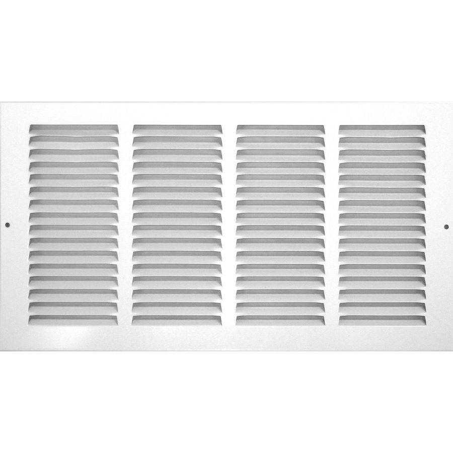 Accord Ventilation White Steel Louvered Sidewall Ceiling Grilles Rough Opening 8 In X 14 In Actual 9 8 In X 15 Ceiling Materials Wall Vents Colored Ceiling