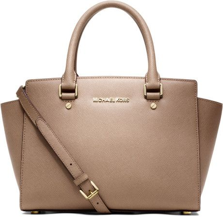729b41d92b957 MICHAEL Michael Kors - Natural Medium Selma Topzip Satchel - Lyst