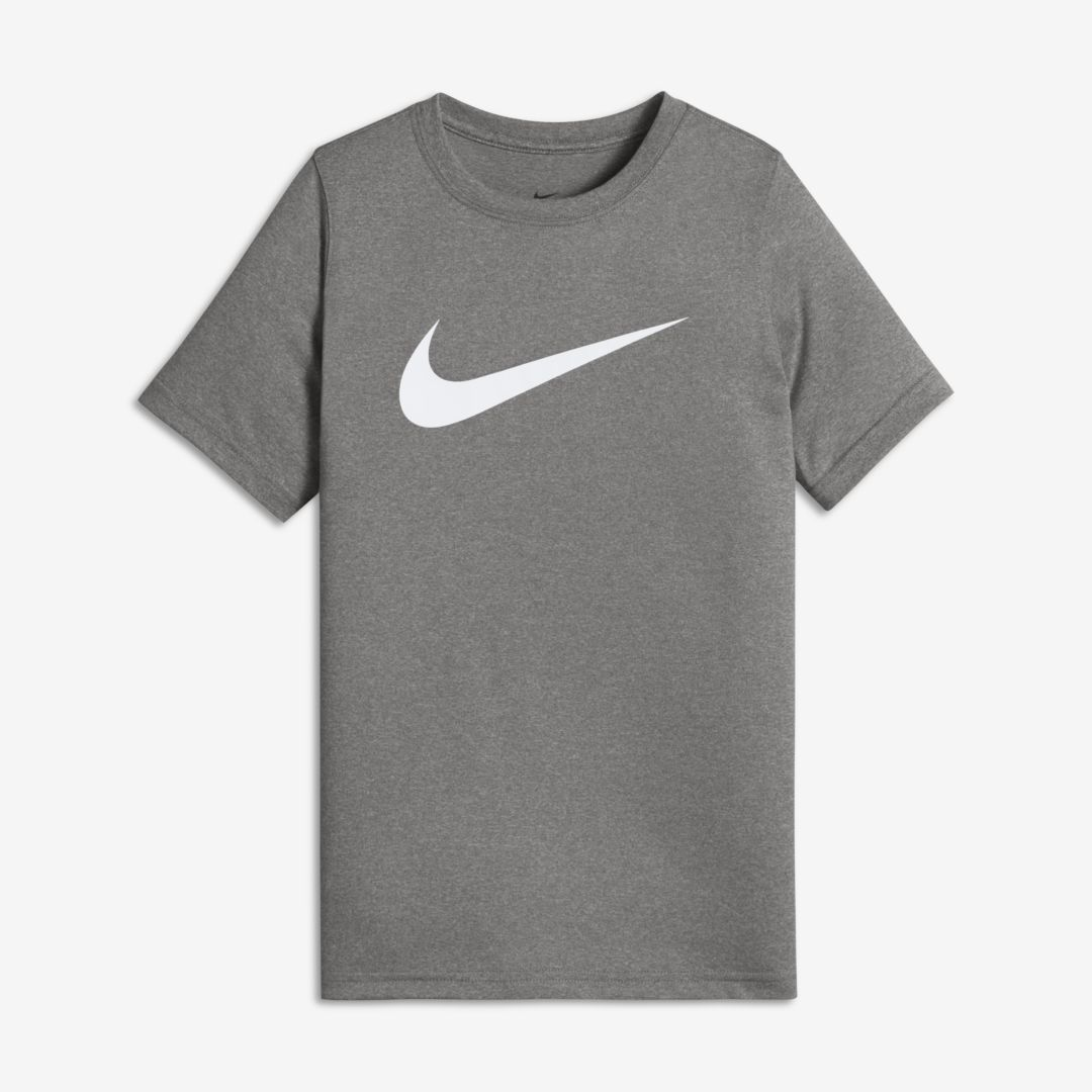 a1cf0cafd368 Nike Dri-FIT Big Kids  (Boys ) Training T-Shirt Size M (Dark Grey Heather)