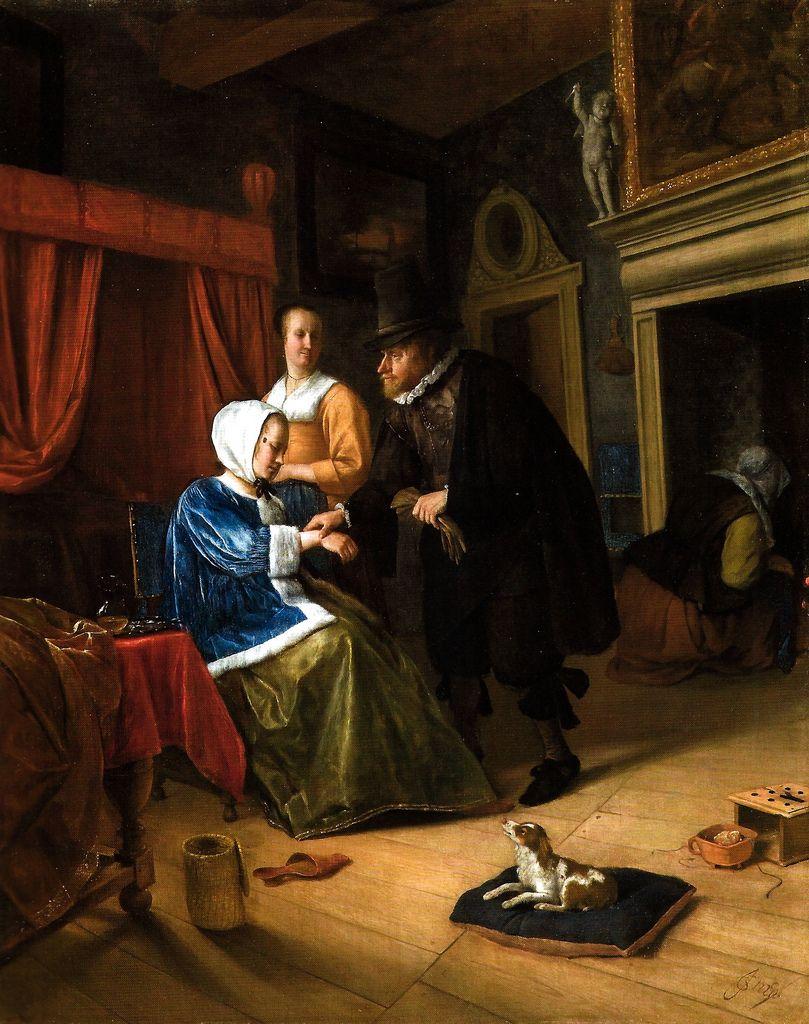 "Jan Havicksz Steen (1626-1679). ""La joven enferma"" (c.1660-1662 ..."