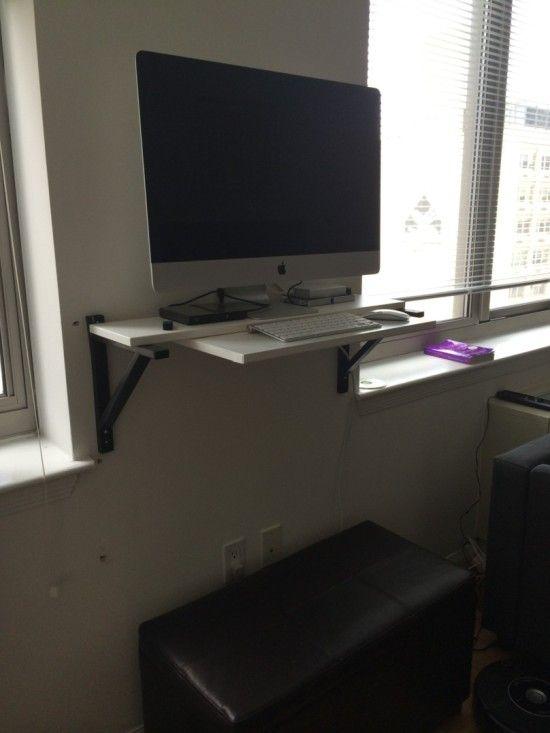 ekby hemnes standing desk hack imac ikea hackers - Computertisch Fr Imac 27