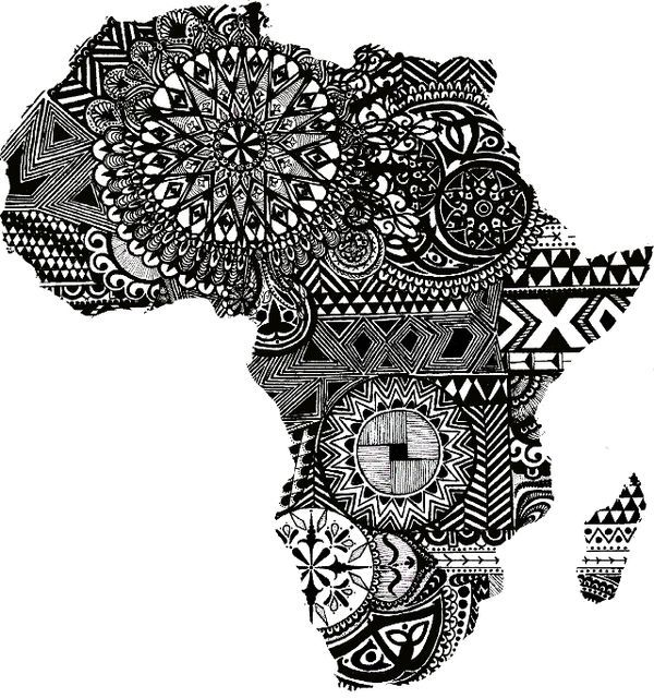 cool africa map designs