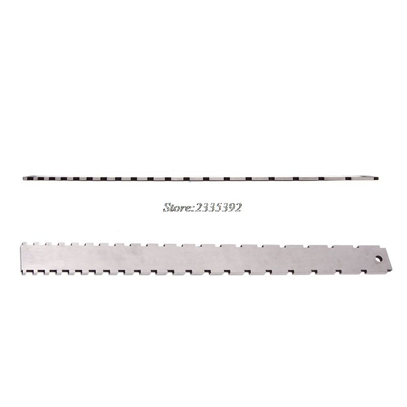 Guitar Neck Notched Straight Edge Steel Tool For Luthier Guitar Neck Straight Edges Tool Steel