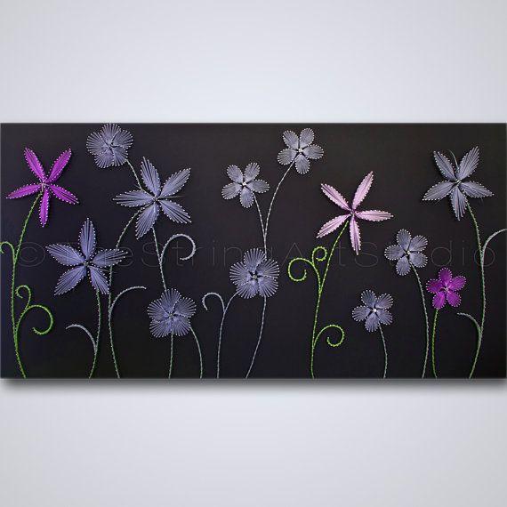 String Art Flowers Purple Exceptions String Art Flowers