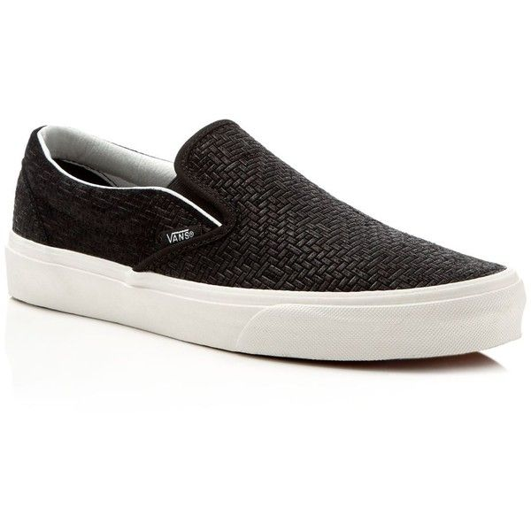 41978a46de Vans Embossed Suede Classic Slip On Sneakers ( 55) ❤ liked on Polyvore  featuring men s