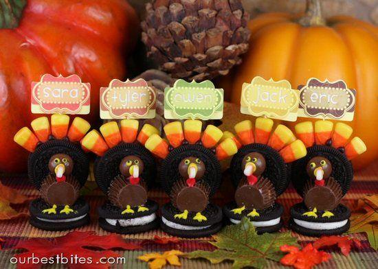 Oreo turkey place card holders so adorns i want to make