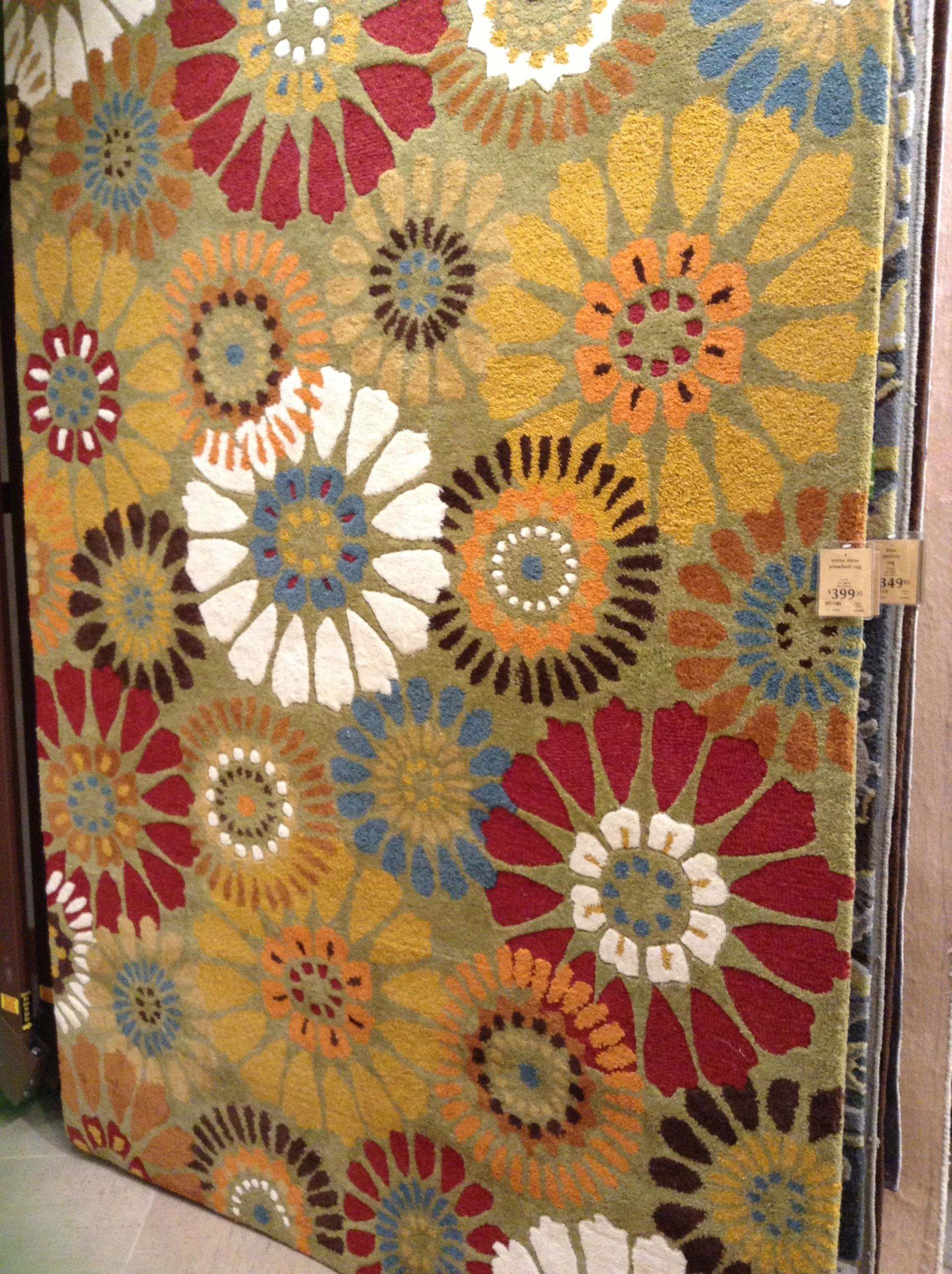 Cool Rug In Pier One Imports With An Interesting Mandala Type