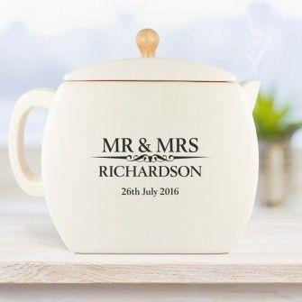 Heritage Wedding Personalised Tea Pot