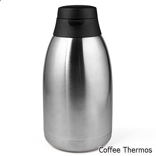 Coffee Thermos 68 Oz Stainless Steel Thermal Carafe Double Walled Vacuum Thermos 12 Hour Heat Retention 2 Litre Coffee Thermos Thermos Coffee Carafe