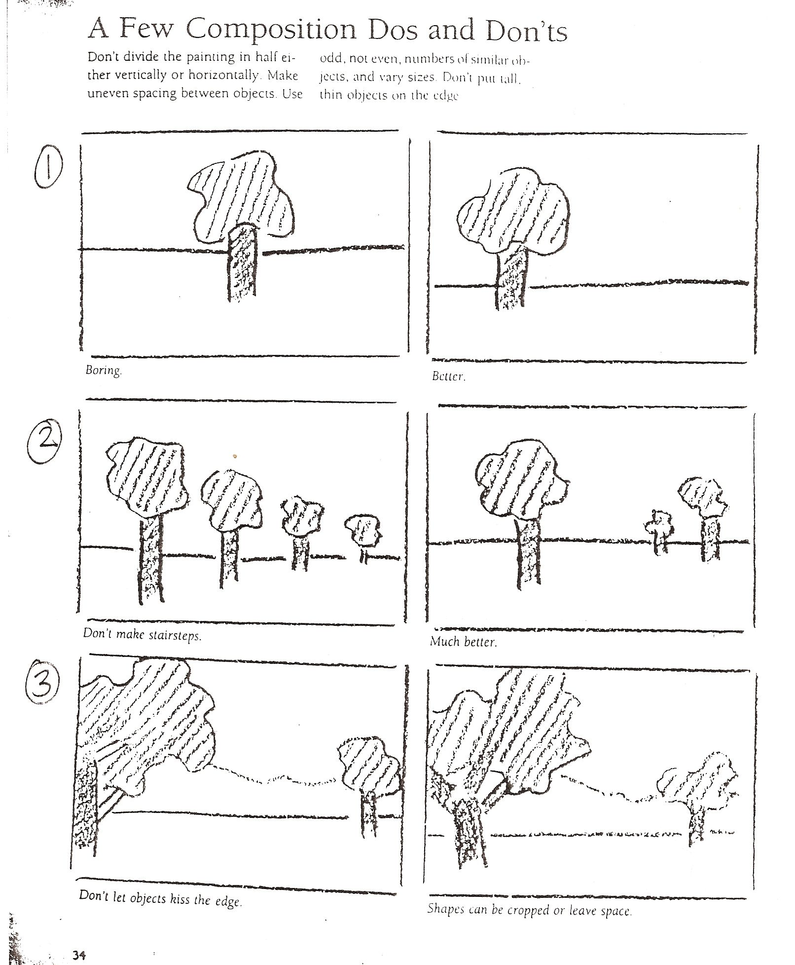 Composition Do S And Dont S Great Source For Simplified Examples I Could Use For Posters For The