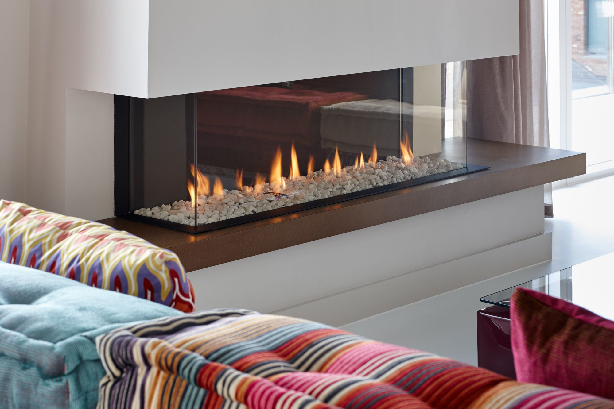Open Front Gas Fireplace