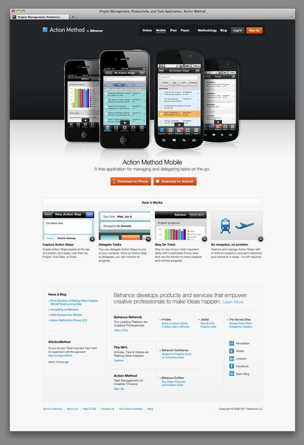 ActionMethod.com v2 by Clement Faydi, via Behance