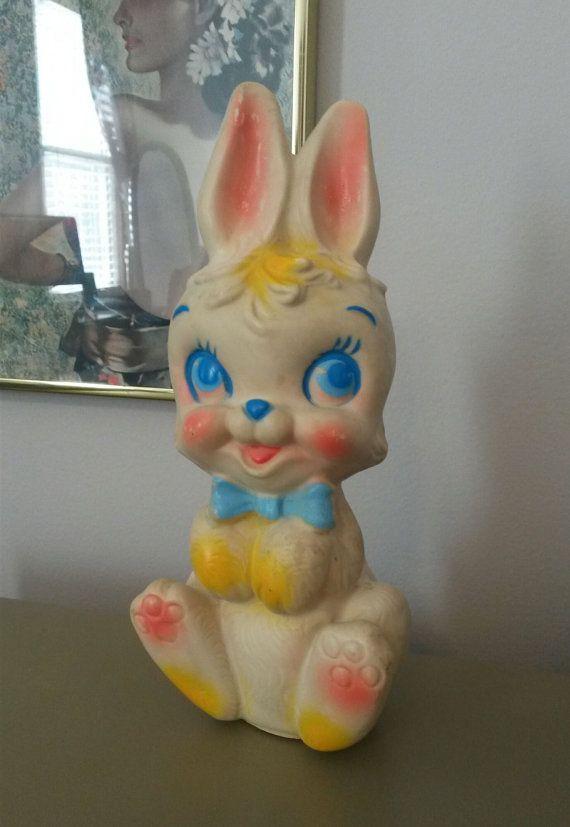 1960 39 S Bunny Rabbit Rubber Toy Retro Toys Vintage Dolls Vintage Toys