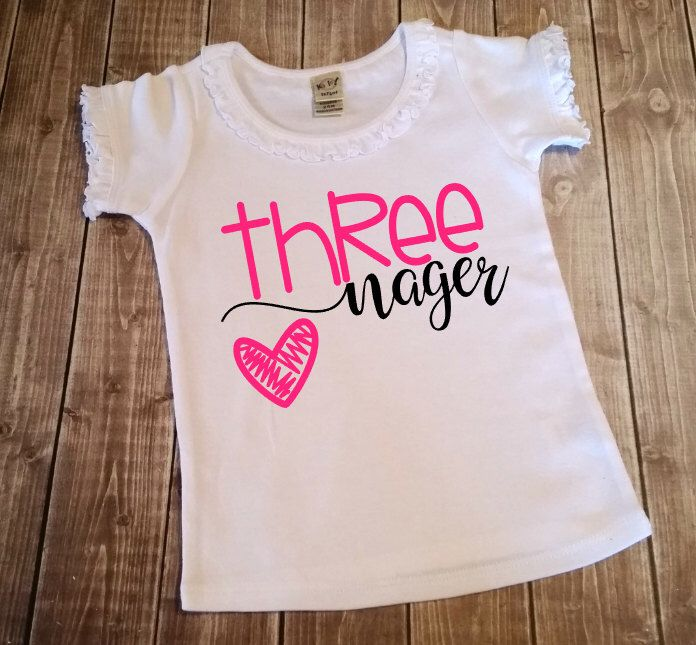 3 Year Old Girl Third Birthday Shirt